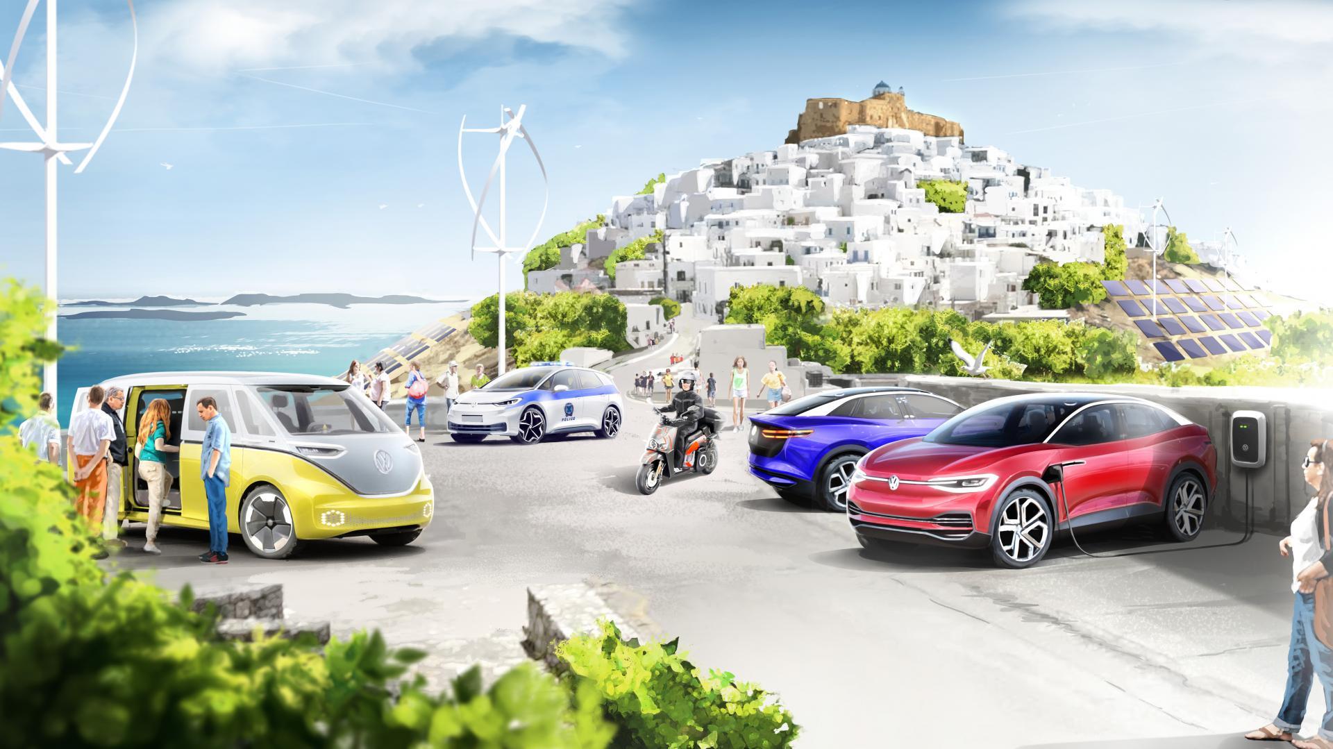 Τhe Greek government and the Volkswagen Group announced today a pioneering project to transform Astypalea into the first smart, green island in the Mediterranean