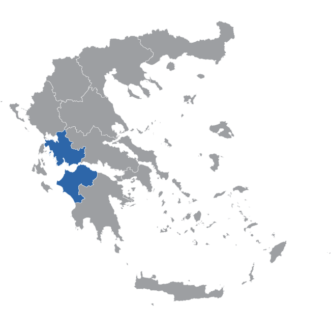 Western Greece Map