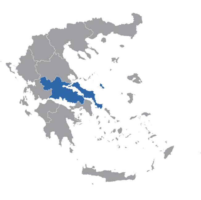 Central Greece Map