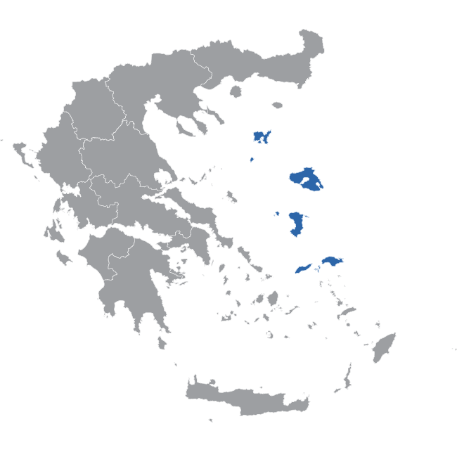 North Aegean Map